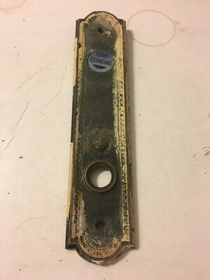 *** VINTAGE ANTIQUE  OTIS ELEVATOR CAR COMING PUSH BUTTON PLATE BRONZE or BRASS