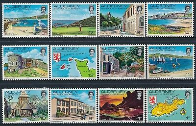 1983 Alderney Definitives Set Of 12 Fine Mint Mnh