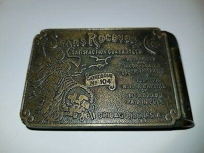 Vintage Sears Belt Buckle - Sears Roebuck and Co.- Made in USA - Chicago
