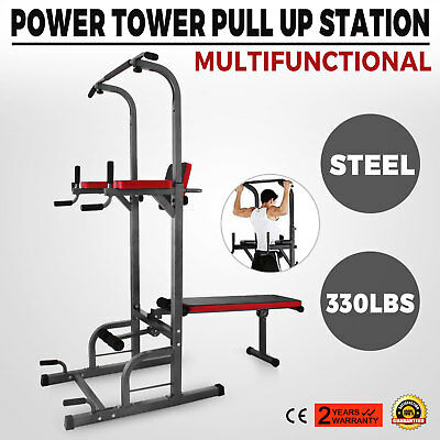 PULL UP Chin Up Station Power Tower Sturdy Chin-Up Bar ...
