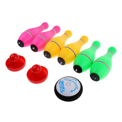 Kids Bowling Game Set Hover Ball Pusher Luminous Bowling Pins Toy Game