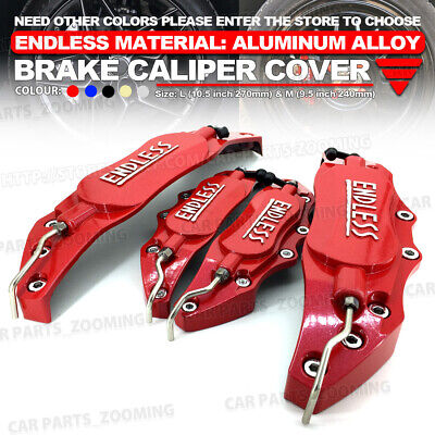 Aluminum alloy 3D ENDLESS Style Universal Brake Caliper Cover 4 pcs Red L+S LW01