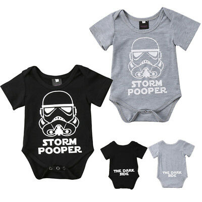 Newborn Baby Boy Girl Strom Pooper Romper Bodysuit Jumpsuit Clothes Outfit 0-18M