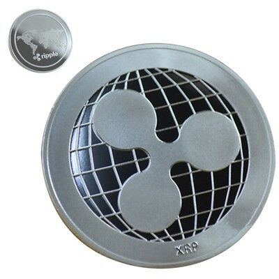 Silver Ripple Commemorative Round Collectors XRP Coin Sliver Plated UK 40*3 mm