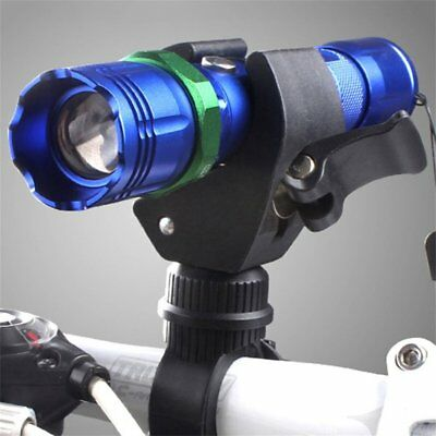 360 Degree Cycling Bicycle Bike Mount Holder for LED Flashlight Torch Clamp FK