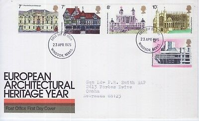 GB Stamps First Day Cover European Architectural Heritage CDS Windsor 1975