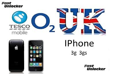 O2 Tesco UK official factory unlock code for apple iPhone 3g & 3GS
