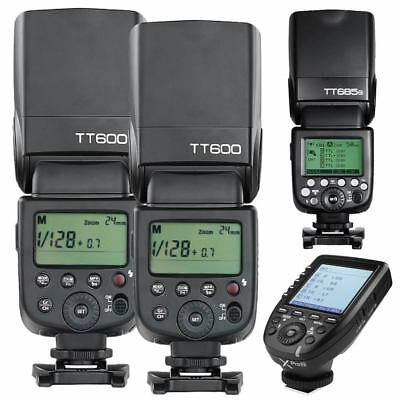 Godox TT685N 2X TT600 Xpro-N 2.4G HSS Camera Flash Speedlite Kit for Nikon