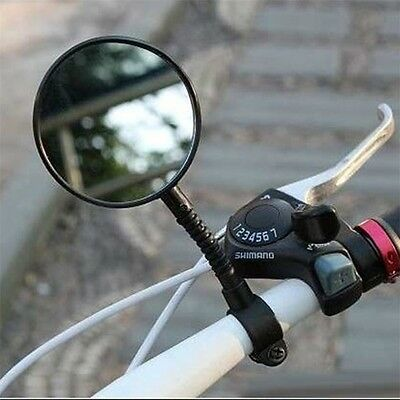 1pc Bike Bicycle Handlebar Flexible Rear Back View Rearview Mirror Black RE