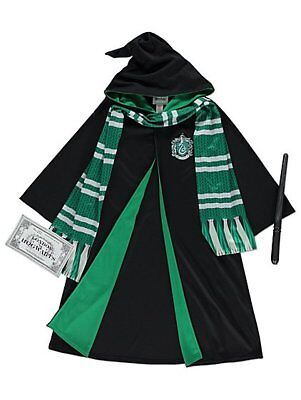 Harry Potter Slytherin Robes Fancy Dress Costume Robes, scarf,  & wand
