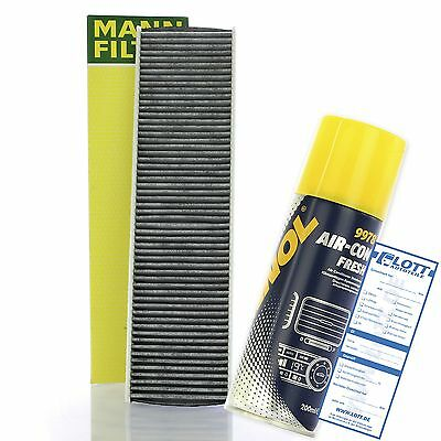 Original MANN Innenraumfilter + Klimaanlagen Desinfektion Air-Con Fresh Mini