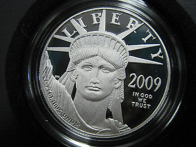 2009 W 1 oz Proof Platinum American Eagle Coin w/ Box and Certificate *3874