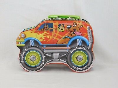 Scooby-Doo The Mystery Machine Metal Tin Lunch Box Carry Pencil Box