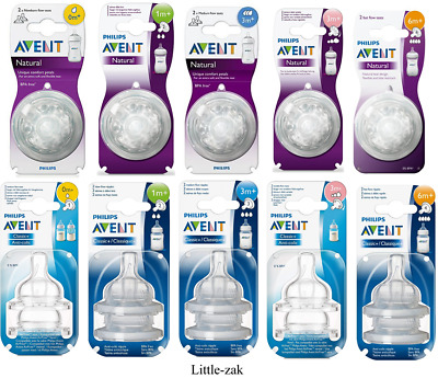 Philips Avent Natural / Classic+ Bottle Teats Newborn Slow Medium Fast Teat