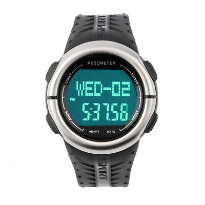 3D Fitness Sport Watch Pedometer Watch Heart Rate Monitor Calories Counter FK