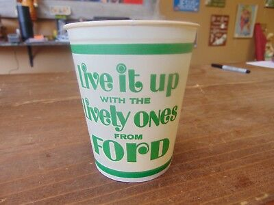 Vintage FORD - LIVE IT UP with the LIVELY ONES Wax 16 oz. Paper Cup