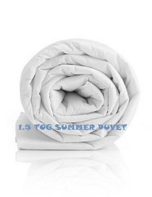 Duvet 1.5 TOG 100% Cotton Percale Cover New