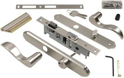 4-in Satin Nickel Screen and  Storm Door Mortise Latch Reversible levers Lock