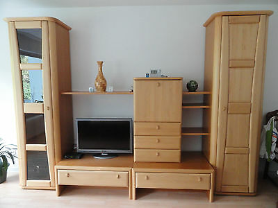 wohnzimmer schrank kirsche massivholz top zustand eur 340 00 picclick de. Black Bedroom Furniture Sets. Home Design Ideas