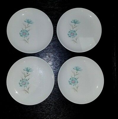 """Lot of 4 Taylor Smith Boutonierre 6 3/4"""" Bread & Butter Plates"""