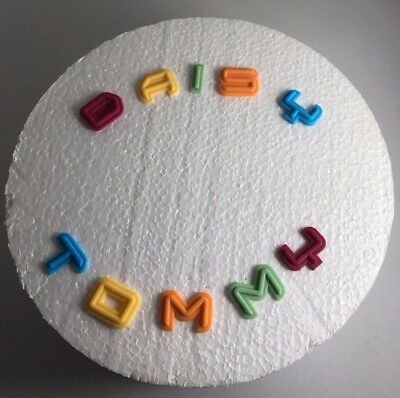 edible sugarpaste  letters name cake cupcake topper any name up to 10 letters