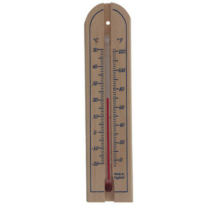 Wall Thermometer Wooden Indoor Outdoor Wood Garden Greenhouse Room Home 14/431/3