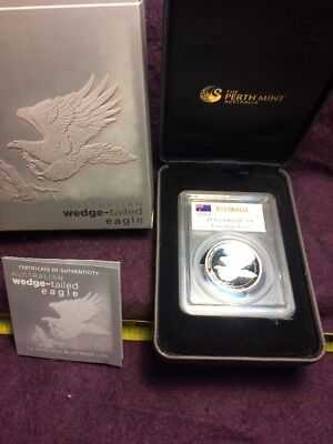 Australian Wedge-Tailed Eagle 2014-P High Relief PCGS PR69DCAM $1 Silver Boxed