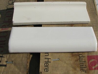 """1 - Vintage Discontinued Gloss Dal-Tile A4200, Bullnose White 555N4205 2""""X6"""""""
