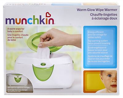 Baby Wipe Warmer Munchkin Warm Glow Green NURSERY Infant Diaper Station