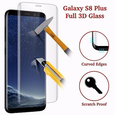 Full Curved Tempered S8 Plus Glass Galaxy 3D Screen Protector Crystal Clear LCD