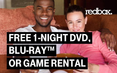 Redbox 1-night Game, Bluray or DVD rental *CODE* - Use by 1/22/2018