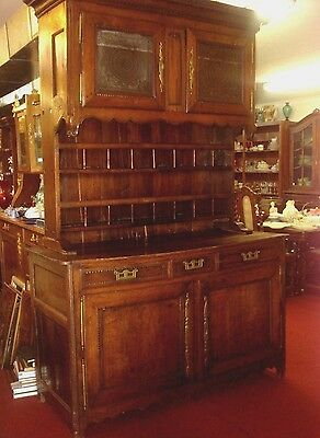 """Antique FRENCH Provincial  VAISSELIER CABINET SIDEBOARD H93""""BUFFET Pie Safe"""