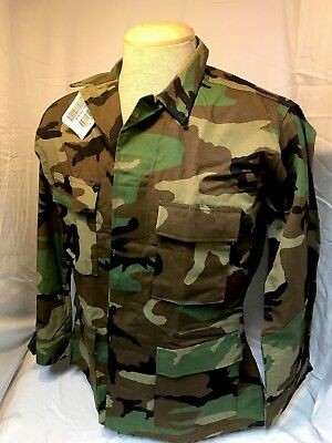 Us Army Woodland Bdu Blouse Coat Twill Cold Weather Size: Medium Long Nwt