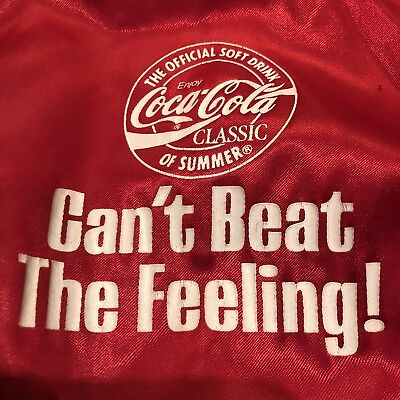Vtg 1987 Coca Cola Campaign Satin Jacket Coke Can't beat the Feeling Mens Large