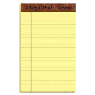 12 Pack 50 Sheets Yellow Paper Legal Size Pads Ruled For School Office Writing