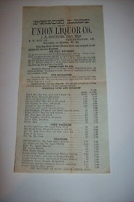 Vintage Ad Union Liquor Co Catlettsburg Ky Formerly Of Hinton Wv Price List