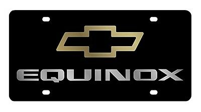NEW CHEVROLET EQUINOX Gold Logo Acrylic License Plate