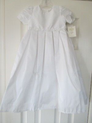 Nwt New L'pety Canar Long Chistening Gown 3M-6 M, Lined Gorgeous