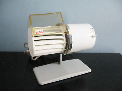 Vintage Braun Desk Fan, 1960s Modern, HL 1C, Motor Runs - for Parts or Repair