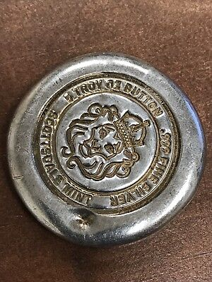 5oz .999 Fine Silver Round Pirates Button Scottsdale Mint 5 OZ