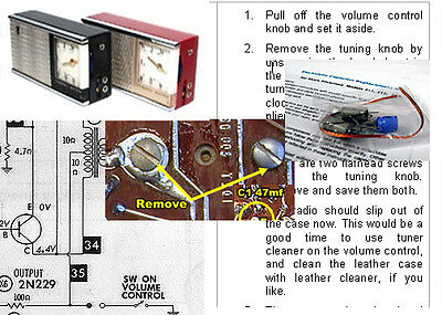 Channel Master 6506 & RCA Victor  P-332 Electrolytic Capacitor Recap Kit