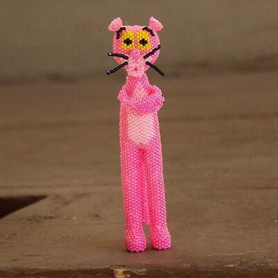 THE PINK PANTHER by Ronda Dosedo - Zuni-Native American Beadwork