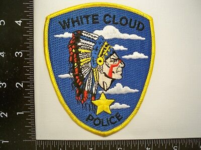Vintage White Cloud, MIchigan Police Patch MI Tribal Law Enforcement