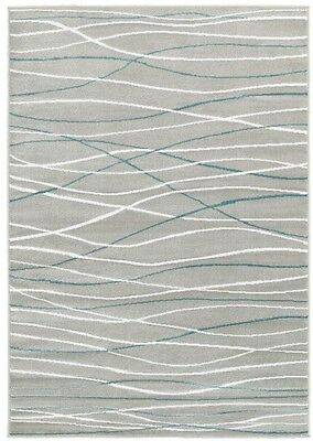 Plush Indoor Area Rug Gray - 5 2 x 7 2 - Stain Resistant - Modern Abstract