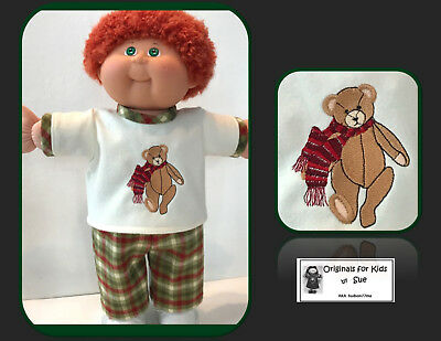 "Cabbage Patch Kid DOLL CLOTHES ONLY/fit 16"" Boy/Girl    Flannel Shirt/PantOutfit"