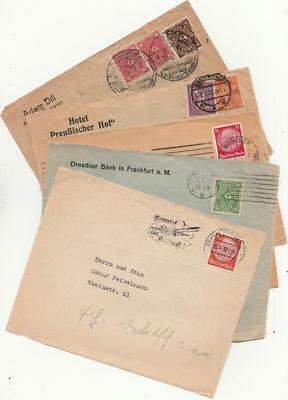 Germany Five 1922 - 1937 Postal History Covers (fronts)