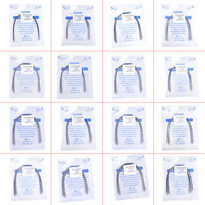 Dental Orthodontic Stainless Steel Rectangular Arch Wires Natural Form 10Pcs/Bag