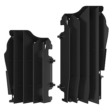 New Black Radiator Guards Covers Grills Kawasaki KX250F KX 250F 2010 2011 - 2016
