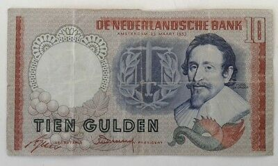 Netherlands 10 Gulden Amsterdam 23 March 1953 #KCS