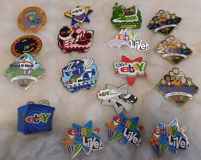Advertising eBay Live Pins 17 Several Different Years   1 German